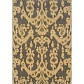 Beige/ Grey Transitional Abstract Area Rug (5' x 7'6)
