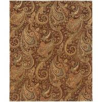 "Evan Brown/ Gold Transitional Area Rug (8'3 x 11'3) - 8'3"" x 11'3"""
