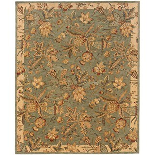 Evan Blue/ Ivory Transitional Area Rug (5' x 8'3)
