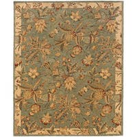 Evan Blue/ Ivory Transitional Area Rug - 8'3 x 11'3