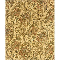 """Evan Beige/ Gold Transitional Area Rug (7'6 x 9'6) - 7'6"""" x 9'6"""" - Thumbnail 0"""