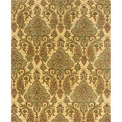 Evan Beige/ Green Transitional Area Rug (3'6 x 5'6)