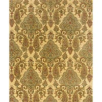 "Evan Beige/ Green Transitional Area Rug - 3'6"" x 5'6"""