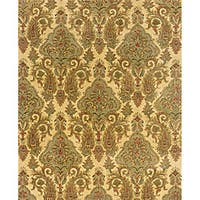 Evan Beige/ Green Transitional Area Rug - 5' x 8'3