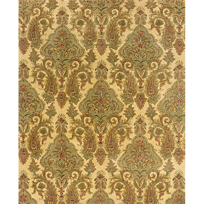 Evan Beige/ Green Transitional Area Rug (7'6 x 9'6)