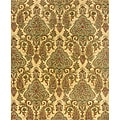 Evan Beige/ Green Transitional Area Rug - 8'3 x 11'3