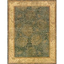 Evan Blue/ Beige Transitional Area Rug (5' x 8'3)