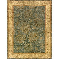 Evan Blue/ Beige Transitional Area Rug - 5' x 8'3