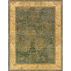 Evan Blue and Beige Transitional Area Rug - 7'6 x 9'6 - Thumbnail 0