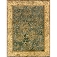 Evan Blue and Beige Transitional Area Rug (7'6 x 9'6)