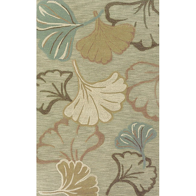 Solano Green/ Rust Transitional Area Rug (5' x 8')