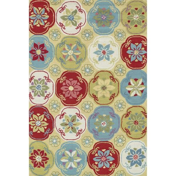Peony Citron/ Multi Floral Rug (7'6 x 9'6)
