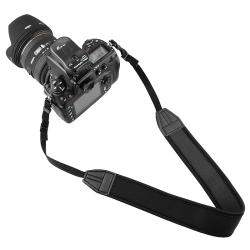 INSTEN Black Anti-Slip Weight Reducing Neoprene Camera Neck Strap - Thumbnail 2