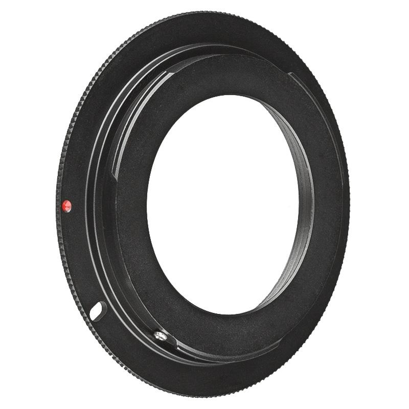 INSTEN Black M42 Lens to Canon EOS EF Camera Adapter Ring