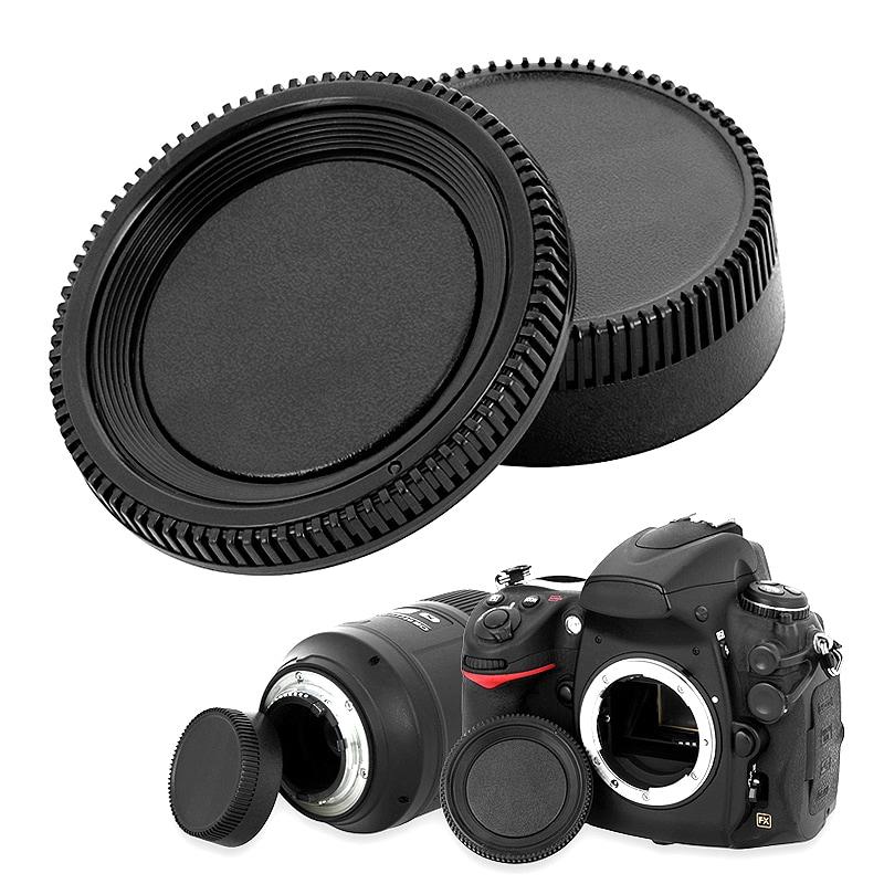 INSTEN Camera Body Cap and Rear Lens Cover Cap for Nikon