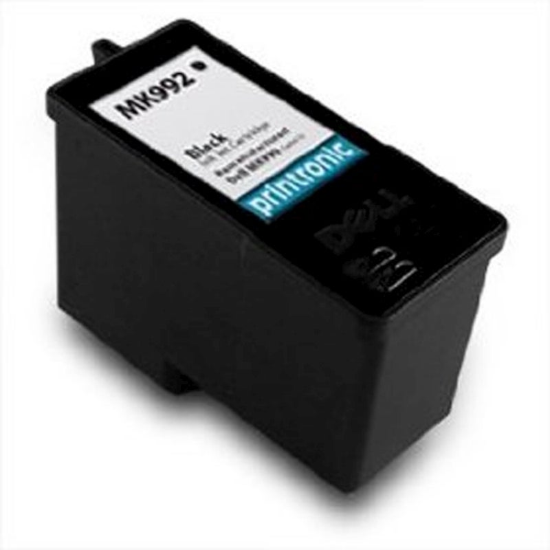 Dell 9 MK990/ MK992 Black Ink Cartridge (Remanufactured) - Thumbnail 0