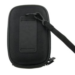 INSTEN Black Heavy-duty Nylon Zippered Universal Digital Camera Phone Case Cover