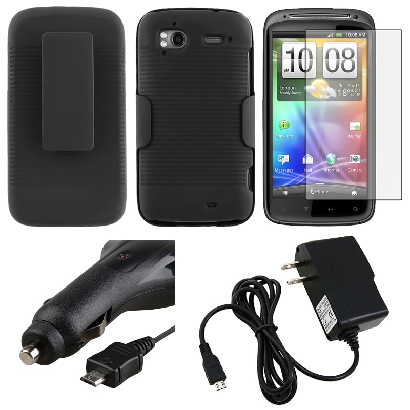 Holster/ Screen Protector/ Chargers for HTC Sensation 4G