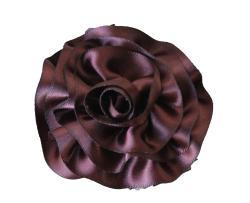 CarolineAlexander Satin Rose Hair Flower - Thumbnail 2