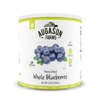 Augason Farms Freeze Dried Whole Blueberries 12 oz #10 Can