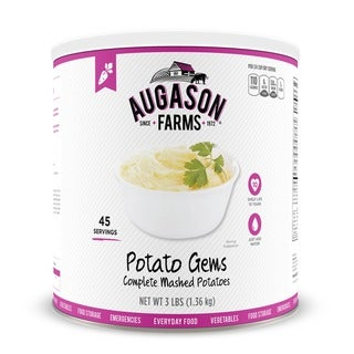 Augason Farms Potato Gems Complete Mashed Potatoes 48 oz #10 Can