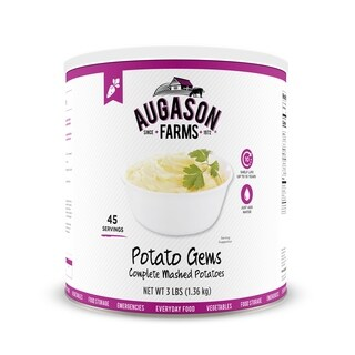 Augason Farms Potato Gems Complete Mashed Potatoes 3 lbs No. 10 Can
