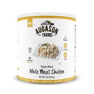 Augason Farms Freeze Dried Chicken Breast Chunks 16-ounce No. 10 Can (2 options available)