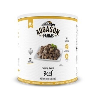 Augason Farms Freeze Dried Beef Chunks 16 oz No. 10 Can (2 options available)