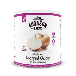 Augason Farms Dehydrated Chopped Onions 1 lb 7 oz No. 10 Can 3-Pack