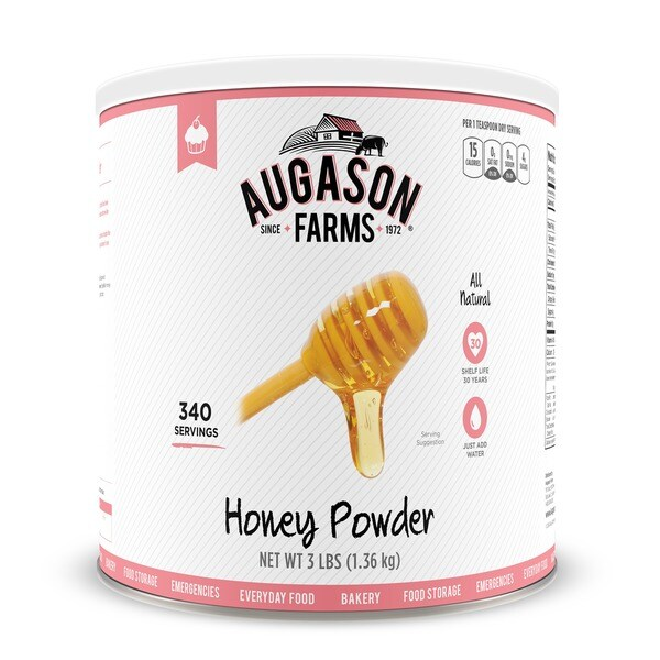 Augason Farms Honey Powder 48 oz #10 Can