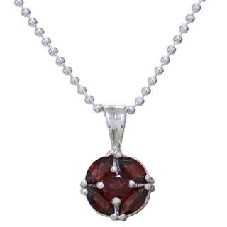 Handmade Sterling Silver Jaipur Star Garnet Necklace India