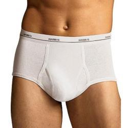 Hanes Men's White Cotton Briefs (Pack of 7) - Thumbnail 1