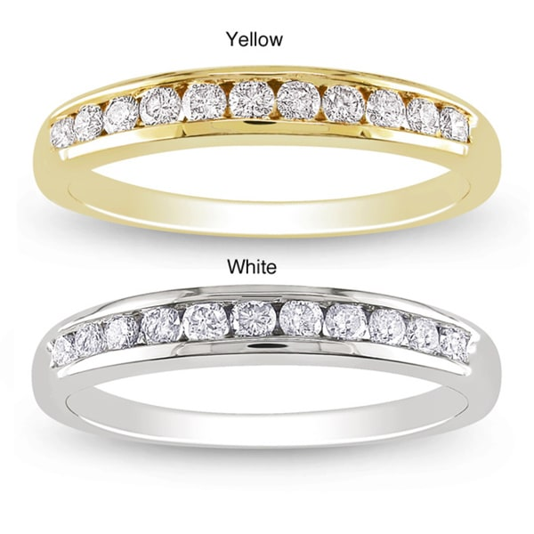 Miadora 14k Gold 1/3ct TDW Diamond Semi-eternity Ring (G-H, SI1-SI2)