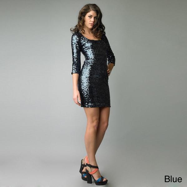 Issue New York Women's Sequin Square Neck Dress