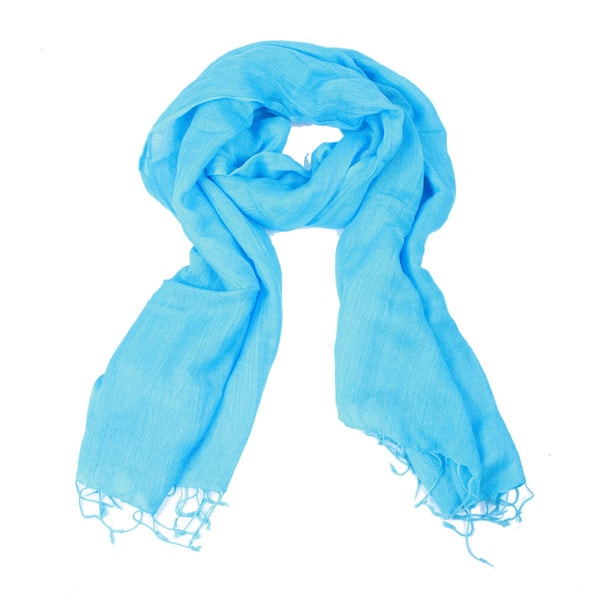 Light Weight Handmade Turquoise Scarf (India)