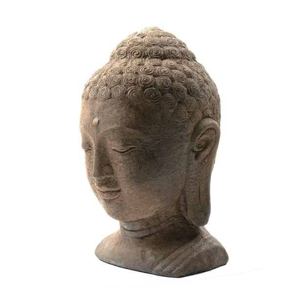 Antiquated Buddha Head Garden Accent