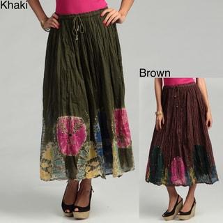 Tokyo Collection Women's Long Tie-dye Printed Skirt