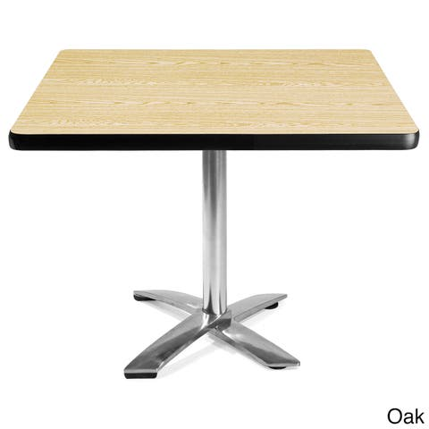 OFM 36-inch Square Flip-Top Laminate Table with Chrome Base