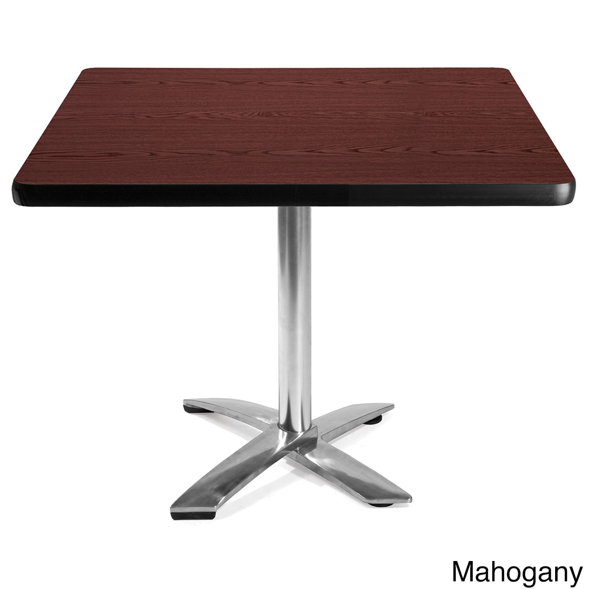 OFM 36-inch Square Flip-Top Laminate Table with Chrome Ba...