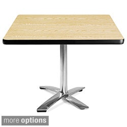OFM 36-inch Square Flip-Top Laminate Table with Chrome Base (4 options available)
