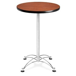 ... OFM 24 Inch Round Laminate Top Cafe Table With Chromed Steel Base