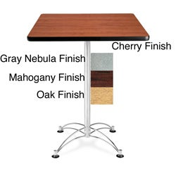 OFM 30-inch Wood-laminate Square Cafe-height Table with Chrome Base