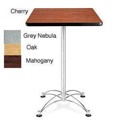 OFM Square Cafe Table with Chrome Base