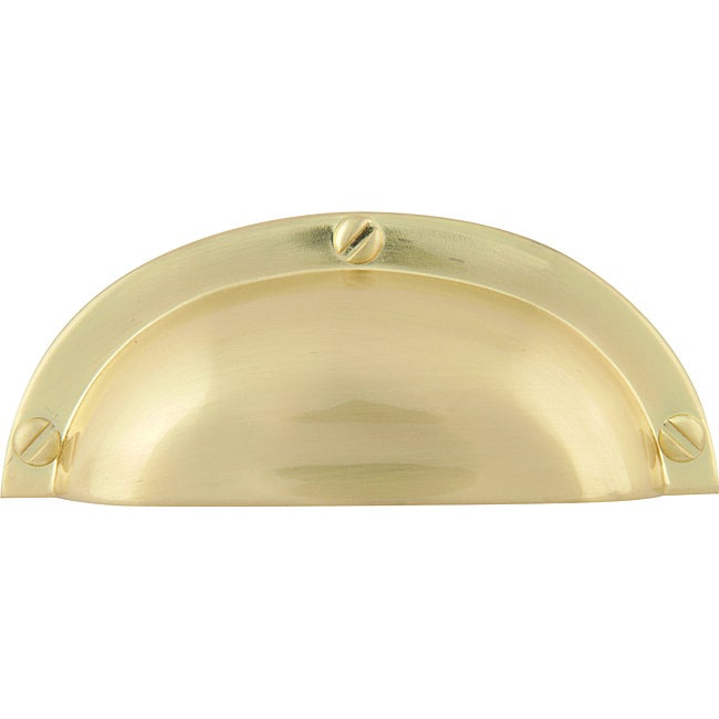 Successi Collection Satin Brass 3.75-inch Bin Cup Cabinet Pulls (Pack of 12)