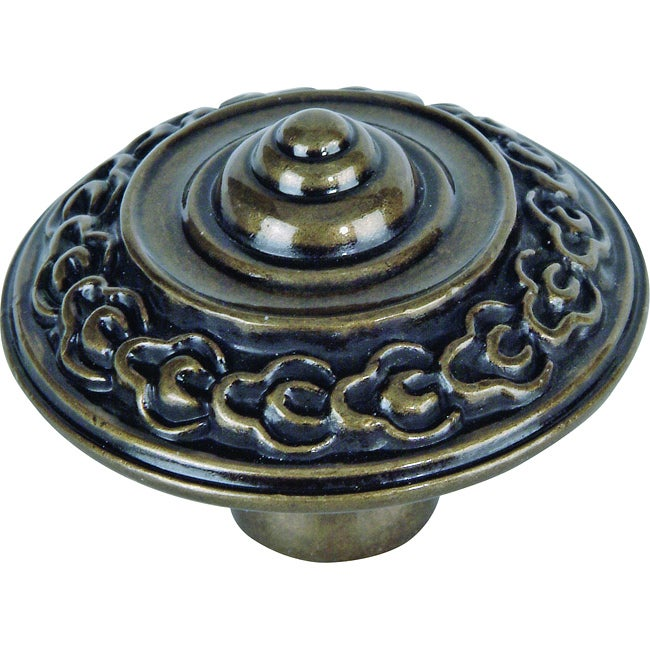 shop st germain collection burnished bronze 1 6 inch cabinet knobs pack of 12 free shipping. Black Bedroom Furniture Sets. Home Design Ideas