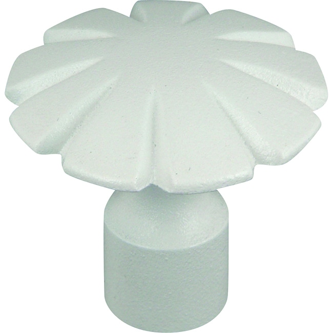 Shop Fluted Collection White 1 5 Inch Cabinet Knobs Pack
