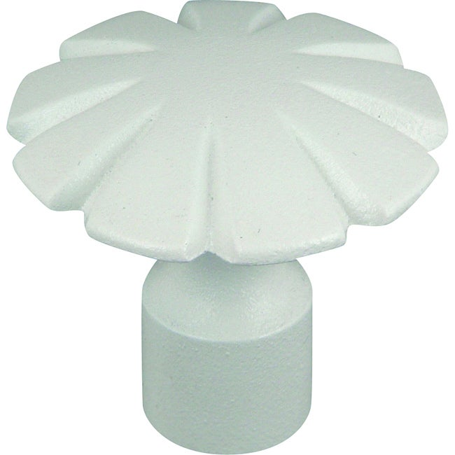 Fluted Collection White 1.5-inch Cabinet Knobs (Pack of 12)
