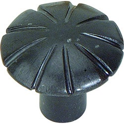 Fluted Collection Iron 1.5-inch Cabinet Knobs (Pack of 12)
