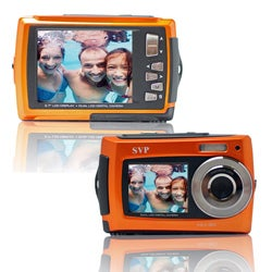 Aqua 5800 Orange 18MP Dual Screen Waterproof Digital Camera with Micro 8GB