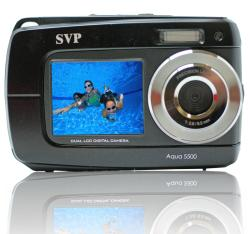 Aqua 5500 Black 18MP Dual Screen Waterproof Digital Camera - Thumbnail 1